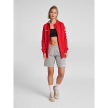 ženska zip majica s kapuljačom hummel GO COTTON