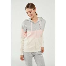 hmlGOZETTI ZIP HOODIE - ženska zip majica s kapuljačom