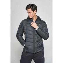 hmlPERRINO ZIP COAT - muška podstavljena jakna s kapuljačom
