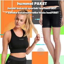 PAKET - ženski bešavni top hmlFIRST + bešavne kratke hlače hmlFIRST