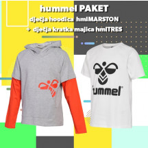 PAKET - dječja hoodica hmlMARSTON + kratka majica hmlTRES