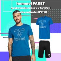 PAKET - muške kratke hlače GO COTTON + kratka majica hmlPETER