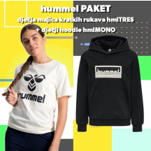 PAKET - dječja hoodica hmlMONO + kratka majica hmlTRES