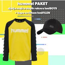 PAKET - dječja majica dugih rukava hmlBOYS + kapa sa šiltom hmlFILEN