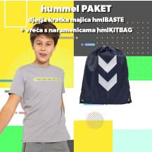 PAKET - dječja majica kratkih rukava hmlBASTE + vreća s naramenicama hmlKITBAG