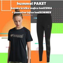 PAKET - ženska majica hmlZENIA + tajice hmlSOMMER
