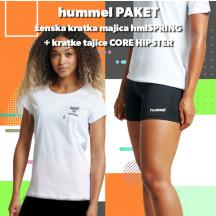 PAKET - ženska majica hmlSPRING + kratke tajice CORE HIPSTER