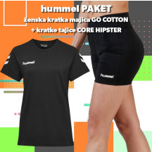 PAKET - ženska majica GO COTTON + kratke tajice CORE HIPSTER