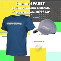 PAKET - dječja majica kratkih rukava hmlBASTE + kapa sa šiltom hmlJEFFY CAP