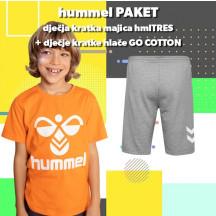 PAKET - dječja kratka majica hmlTRES + dječje kratke hlače GO COTTON