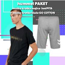 PAKET - muška kratka majica hmlPITA + kratke hlače GO COTTON