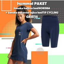 PAKET - ženska haljina hmlNORISSA + bešavne tajice hmlTIF CYCLING