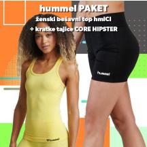 PAKET - ženski bešivni top hmlCI + kratke tajice CORE HIPSTER