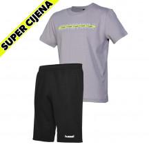 PAKET - dječja kratka majica hmlBASTE + dječje kratke hlače GO COTTON