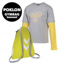 PAKET - dječja majica s dugim rukavima hmlHEBRONY + ruksak GYM BAG GRATIS