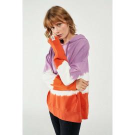 hmlLINE OVERSIZE HOODIE - ženska oversize majica s kapuljačom